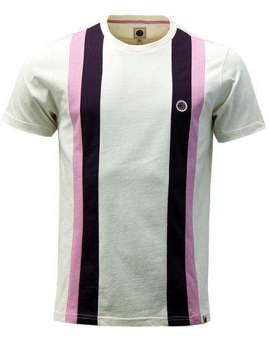 Norwood PRETTY GREEN 60s Mod Stripe Panel T-Shirt