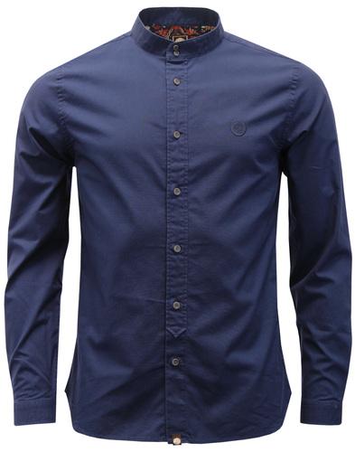 Oakwood PRETTY GREEN 60s Mod Grandad Collar Shirt