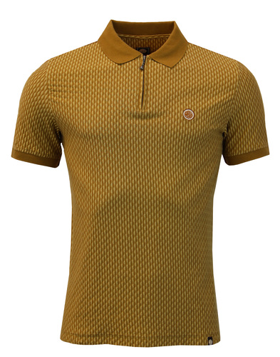 pretty green polo top light brown mod