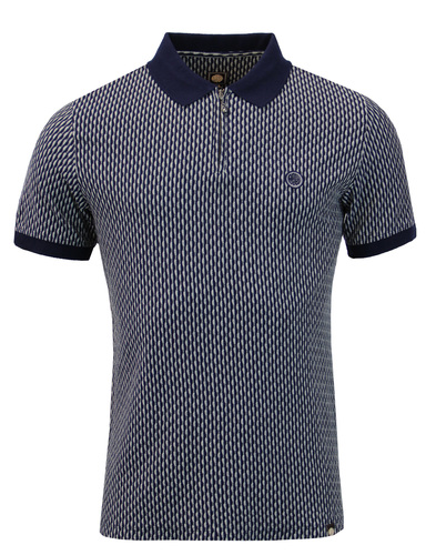 pretty green polo top navy mod
