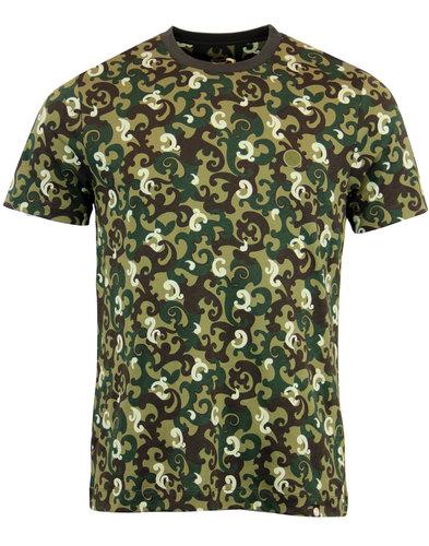 pretty green riley print mod paisley camo t-shirt
