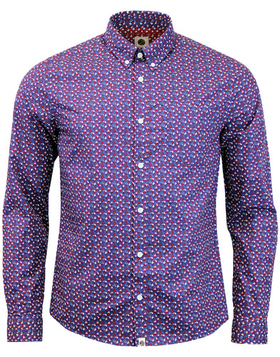 pretty green rindle floral shirt mid blue