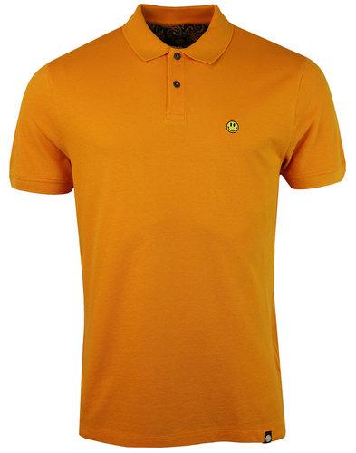 pretty green smiley retro ss hacienda polo orange