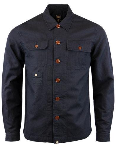 Stamford PRETTY GREEN Herringbone Weave Overshirt