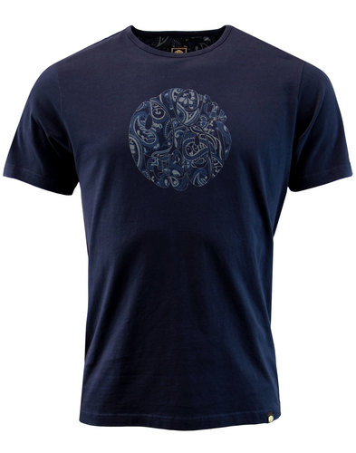 Thornley PRETTY GREEN Retro Paisley Logo Tee (N)