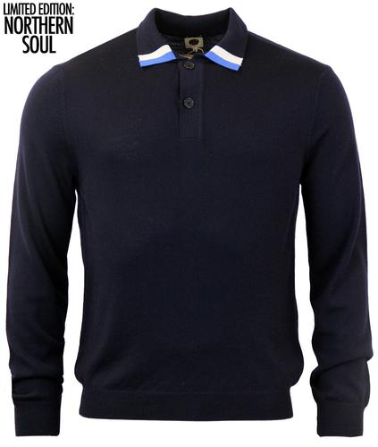PRETTY GREEN MOD NORTHERN SOUL KNITTED POLO