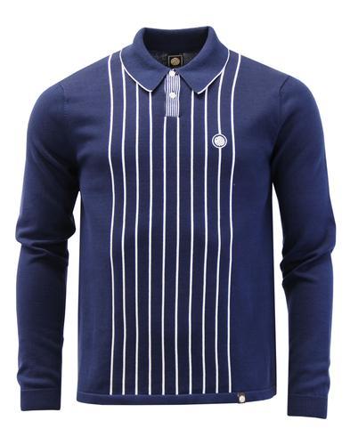 Whittle PRETTY GREEN Mod Stripe Rib Knit Polo Top