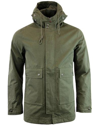 pretty green whitworth retro 60s mod parka jacket