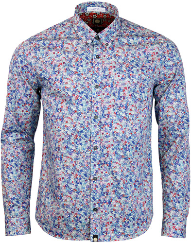 pretty green wilby liberty print shirt blue