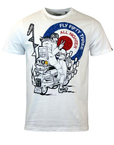 Quadrofinger FLY53 Retro Mod Quadrophenia T-shirt