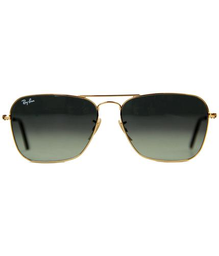 RAY-BAN SUNGLASSES RETRO MOD CARAVAN GOLD