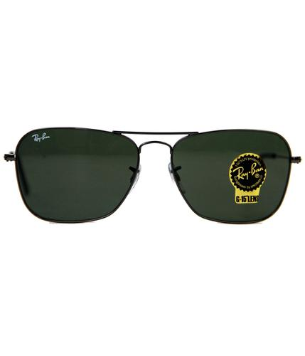 RAY-BAN SUNGLASSES RETRO MOD CARAVAN GUNMETAL