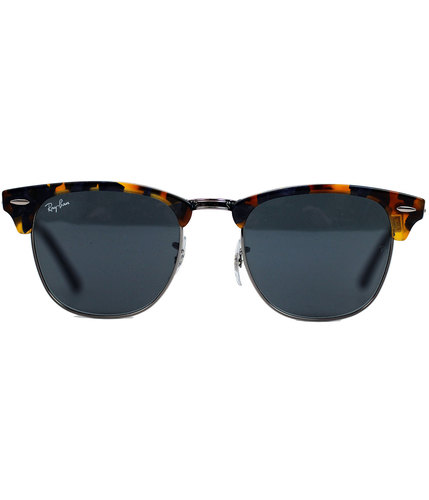 Ray-Ban Clubmaster Spotted Havana Retro Sunglasses