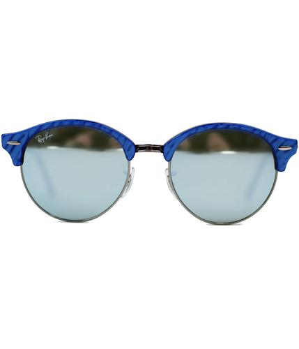 RAY-BAN RETRO SUNGLASSES CLUBROUND SUNGLASSES BLUE