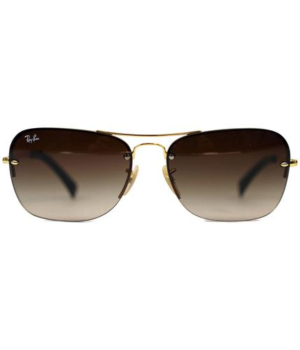 RAY-BAN RETRO SUNGLASSES CURVED PILOT AVIATOR
