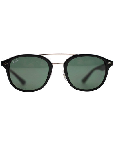 Ray-Ban Brow Bar Wayfarer Retro Sunglasses - Black