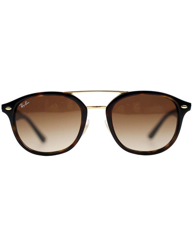 Ray-Ban Brow Bar Wayfarer Retro Sunglasses -Havana