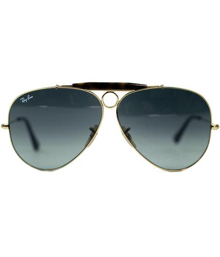 RAY-BAN RETRO SUNGLASSES SHOOTER AVIATOR SUNGLASS