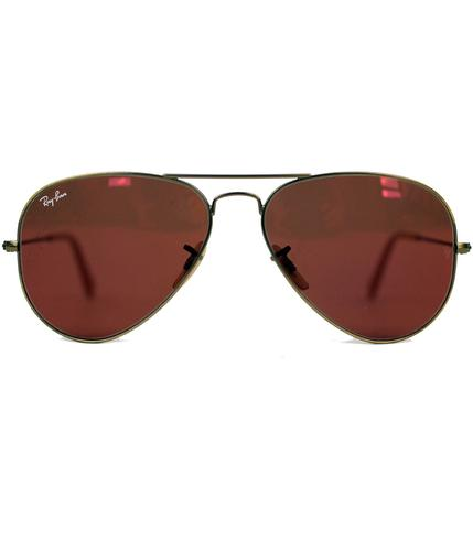 RAY-BAN RETRO MOD FLASH COLOUR AVIATOR SUNGLASSES