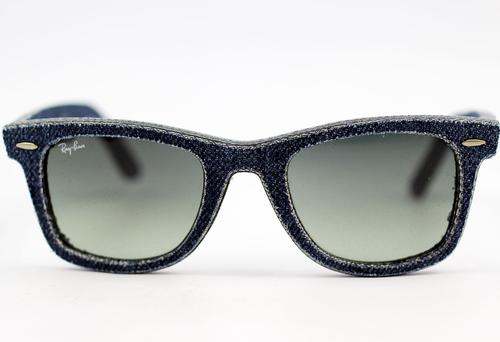 Ray-Ban Wayfarer Retro Mod Denim Jeans Sunglasses