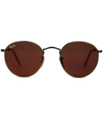 RAY-BAN RETRO MOD 60s ROUND LENNON SUNGLASSES RED