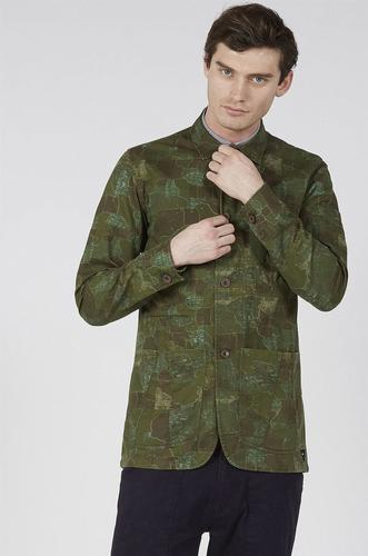 REALM & EMPIRE Retro Mod Map Camo Combat Jacket