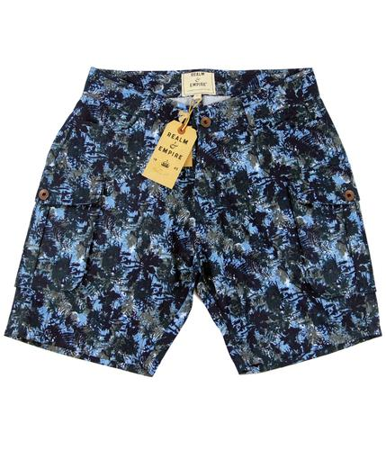 REALM AND EMPIRE RETRO CAMO SHORTS