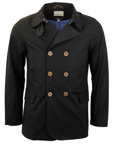 REALM AND EMPIRE FAIRFORD COMPACT PEACOAT BLACK