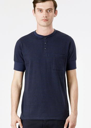 Metfield REALM & EMPIRE Mod Stripe Grandad Tee