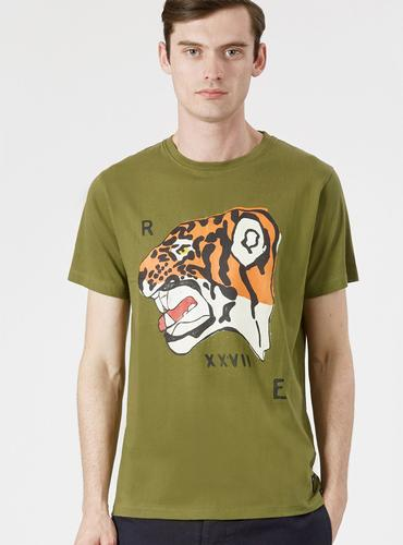 REALM & EMPIRE Retro Tiger Nose Print Tee