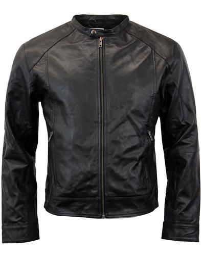 madcap england rebel racer retro leather jacket