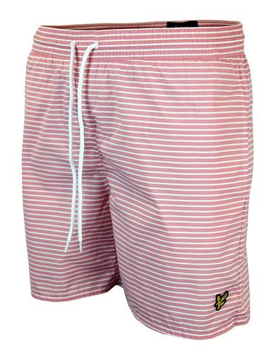 LYLE & SCOTT RETRO INDIE STRIPE SWIM SHORTS RED