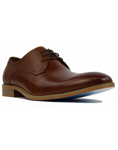 Renon Lace PAOLO VANDINI Men Retro Derby Shoes Tan