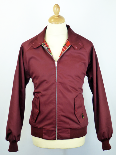 STOMP RETRO MOD HARRINGTON JACKET WINE 60s 70s