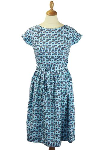 Wise Old Owl Retro 1950s Vintage Summer Tea Dress