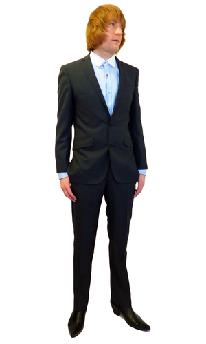 MENS RETRO MOD SUIT IN CHARCOAL MOD MOHAIR LOOK