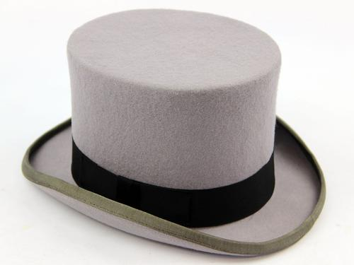 RETRO VINTAGE MENS TOP HAT GREY