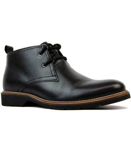 Clayton Retro Mod Smooth Leather Chukka Boots (B)