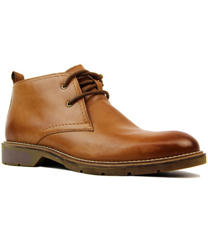 Clayton Retro Mod Smooth Leather Chukka Boots (T)