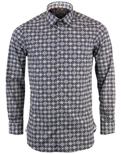 rocola retro 1960s mod geometric circle shirt