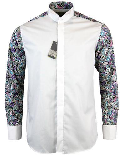 rocola retro 60s paisley back wing collar shirt
