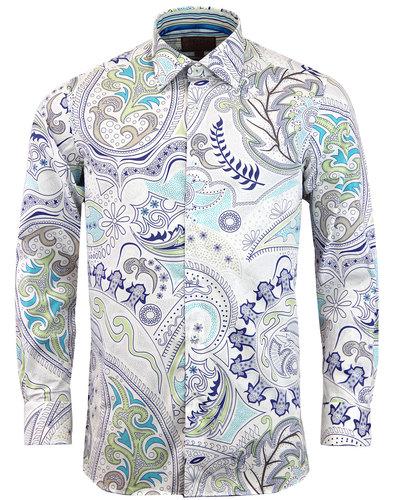 ROCOLA Retro 60s Psychedelic Floral Paisley Shirt
