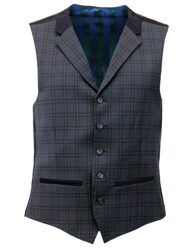 SCOTT RETRO MOD 3 PIECE CHECK SUIT