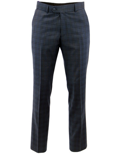 SCOTT RETRO MOD 3 PIECE CHECK SUIT TROUSERS