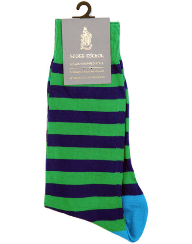 + Hollingswell SCOTT-NICHOL Retro Stripe Socks (G)