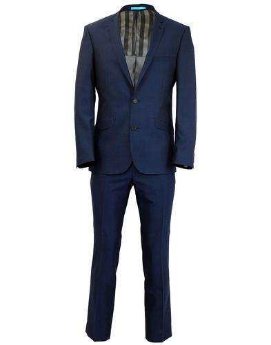 SCOTT RETRO MOD 2 BUTTON BLUE SUIT