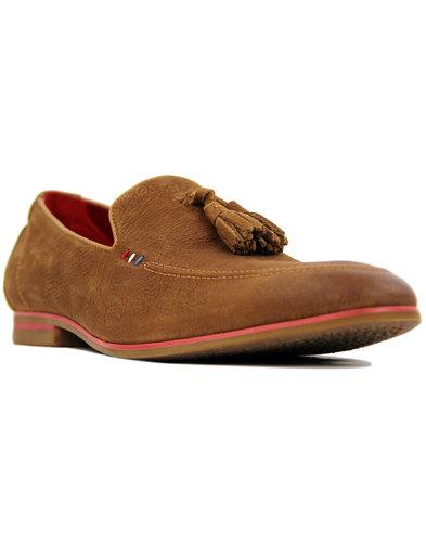 Rene SERGIO DULETTI Mod Leather Tassel Loafers TAN