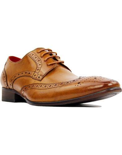 sergio duletti vito brogue shoes tan