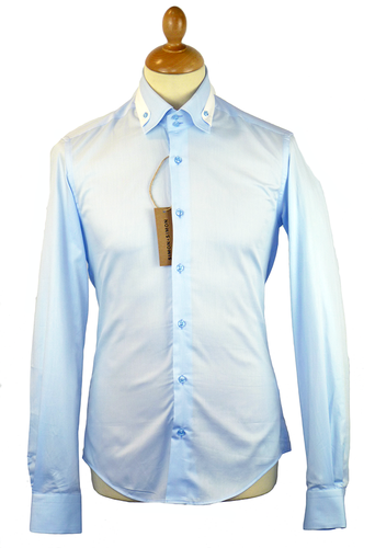 SIMON + SIMON RETRO MOD WHITE SMART SHIRT
