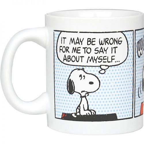 RETRO SNOOPY PEANUTS 70S CARTOON STRIP MUG